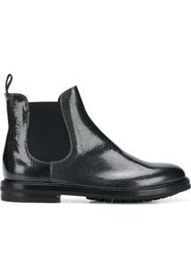 Agl Ankle Boot De Couro - Coal