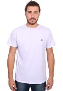 Camiseta England Polo Club Tagless Masculina - Masculino-Branco