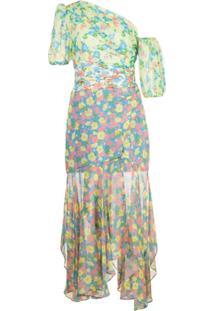 Amur Vestido Jaylah Com Estampa Floral - Azul