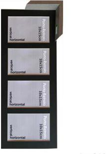Porta Retrato 4 Janelas 10X15Cm Windows Cinza Infinity