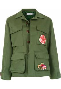 Isolda Jaqueta 'Army' Com Patch - Verde