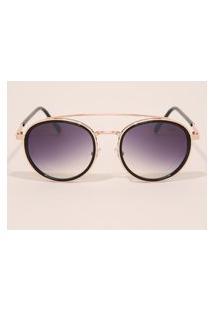 Óculos De Sol Feminino Redondo Yessica Rosê