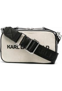 Karl Lagerfeld Bolsa K/Skuare De Canvas - Preto