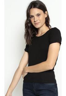 Blusa Lisa- Preta- Cavallaricavalari