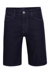 Bermuda Pierre Cardin Pierre Cardin Jeans Masculina - Masculino-Marinho