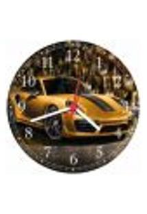 Relógio De Parede Porsche Carros Decorações Salas Quartos