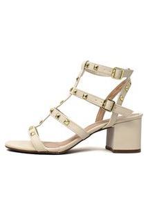 Sandália Damannu Shoes Fiorella Napa Off White