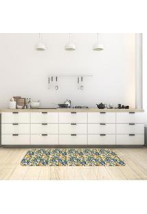 Tapete De Cozinha Mdecore Floral Bege 40X120Cm