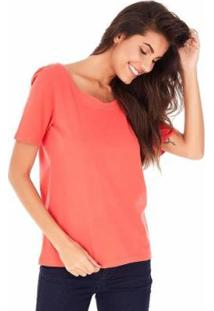 Camiseta Sidewalk Trança Feminina - Feminino-Laranja