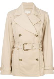 Michael Michael Kors Trench Coat Com Cinto - Neutro