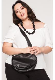 Bolsa Almaria Plus Size Salva Look Pochete Tune Preta