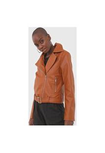 Jaqueta Polo Wear Resinada Caramelo