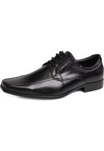 Sapato Tchwm Shoes Social Em Cadarco Couro Preto