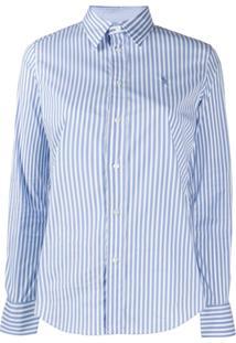 Polo Ralph Lauren Camisa Slim Listrada - Azul
