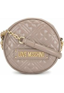 Love Moschino Bolsa Tiracolo Redonda Matelassê - Rosa