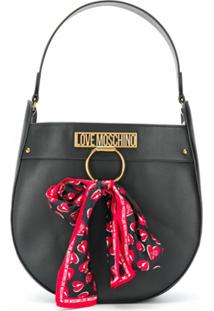 Love Moschino Scarf Detail Shoulder Bag - Preto