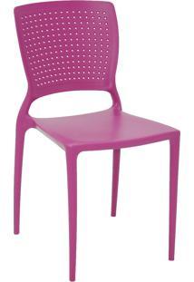 Cadeira Tramontina 92046007 Safira Em Polipropileno E Fibra De Vidro Rosa