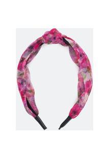 Tiara Larga Com Nó Estampa Floral | Accessories | Rosa | U