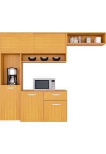 Cozinha Compacta Suspensa C/ Balcão Thais-Poquema - Damasco