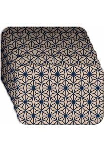 Jogo Americano Love Decor Geometric Blue Kit Com 6 Peças