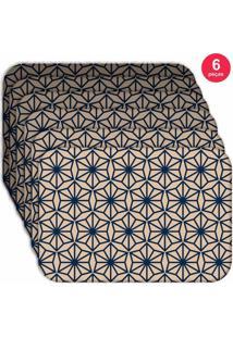 Jogo Americano Love Decor Wevans Geometric Blue Kit Com 6 Pçs