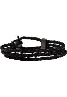 Bracelete Couro Preto