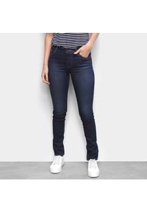 Calça Jeans Lacoste Skinny Escura Feminina - Feminino