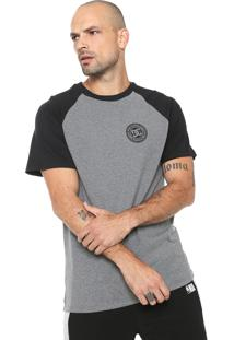 Camiseta Dc Shoes Basic Raglan Cinza