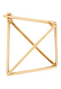 Shihara Brinco Único Triangular - Dourado
