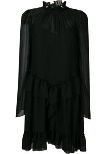 See By Chloé Layered Ruffle Dress - Preto