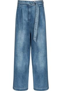 Tibi Calça Jeans Pantalona Stella - Azul