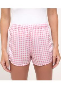 Short De Pijama Estampa Vichy
