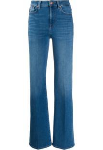 7 For All Mankind Calça Jeans Flare Cintura Alta - Azul