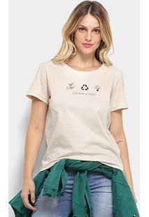 Camiseta Colcci Estampa Sustentabilidade Feminina - Feminino