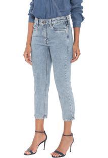 Calça Jeans Carmim Mom Cropped Tomboy Azul