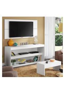 Rack Com Painel Para Tv Até 55 Polegadas E Mesa De Centro Madesa Flórida Branco