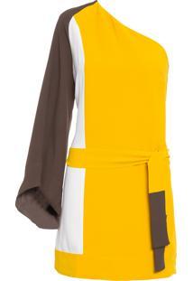 Vestido Multicolor - Amarelo