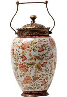 Vaso Decorativo De Porcelana Le Jardin