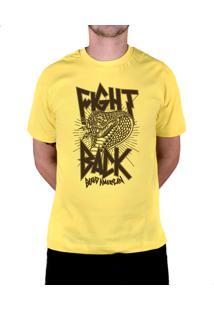 Camiseta Bleed American Fight Back Amarela