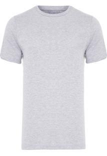 Camiseta Masculina Básica Careca - Cinza Mescla