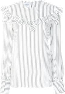 fb1c14caf R$ 2978,00. Farfetch Dondup Camisa Listrada Com Babados - Branco
