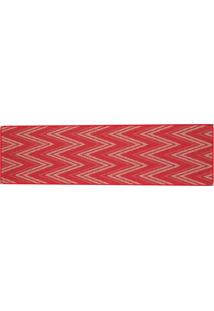 Tapete Sisllê Geométrico I Retangular Polipropileno (66X180) Vermelho