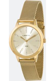 Kit Relógio Feminino Lince Lrgh123L-Kx11C1Kx Analógico 5Atm + Pulseira