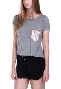 Camiseta Pocket Cinza