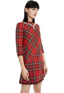 Vestido Curto Desigual Vermelho
