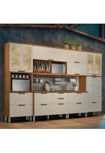 Cozinha Duquesa Completa - 6 Peças - Freijó Com Offwhite – Nesher