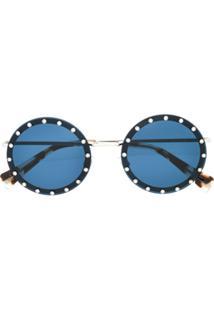 Valentino Eyewear Crystal Embellished Sunglasses - Azul