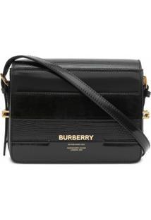 Burberry Bolsa Transversal Grace Pequena - Preto