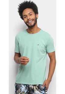 Camiseta Ellus Básica Masculina - Masculino-Verde Água
