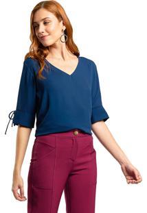 Blusa Mx Fashion Frente Dupla Dakota Azul Marinho